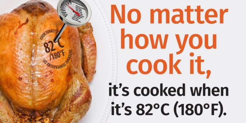 """Caption: """"No matter how you cook it, it's cooked when it's 82 degrees Celsius."""""""